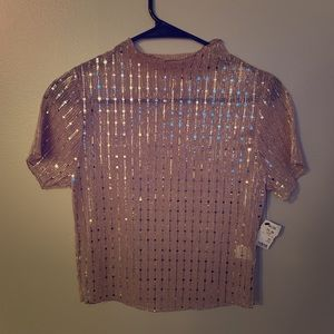 Mesh mirrored night out top!
